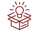 Box with Light bulb Icon